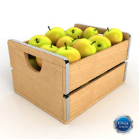 apple crate 3d model