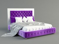3ds max bed blanket pillow