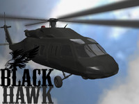free black hawk helicopter 3d model