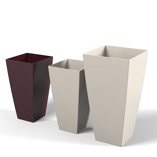 cubico floor planter flower stand modern contemporary