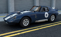 3d model cobra daytona coupe