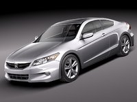 honda accord 2011 sport coupe 3d model