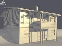 maya log house