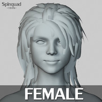 3d female base mesh - model