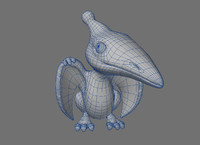 dino pterodactyl obj