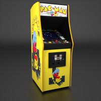 3ds max 1980 arcade cabinet