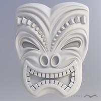 3d tiki mask