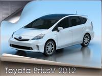 3d model 2012 toyota prius