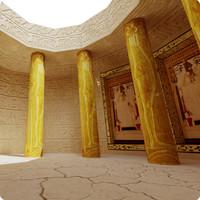 egypt scene column 3d model