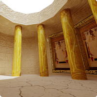 egypt scene column 3d max