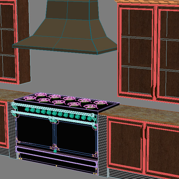kitchen details 3d model - Complete Kitchen Cabinets & Appliances... by 3dfurniture
