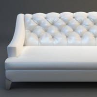 White Sofa Tufted Back