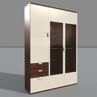 glass cabinet cupboard 3d max