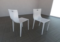 3d model philipe starck chair