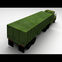 m915a5 army truck freight 3d model