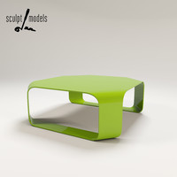3d model twist coffee table