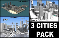 3d pack 3 cities model