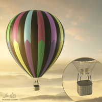 Balloon - hot air 04 (HIGH resolution)