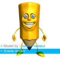 cartoon biped 3d model