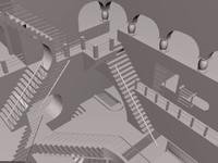 3d escher stairs