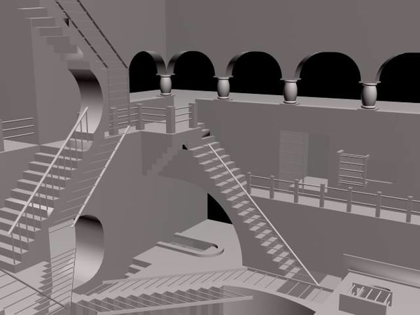 3d escher stairs - ESCHER... by vishalbais