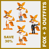 fox cartoon jeans 3d 3ds