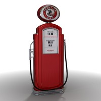 3ds max antique gas pump
