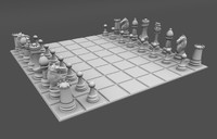 3d model chess modeled