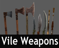 3d model of vile weapons pack