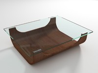 small glass table 3d model