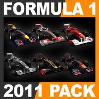 3d model formula 1 2011 pack