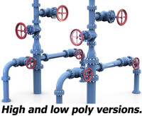 Wellhead pipes and valves system.