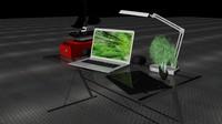 3d model desk boat vaio