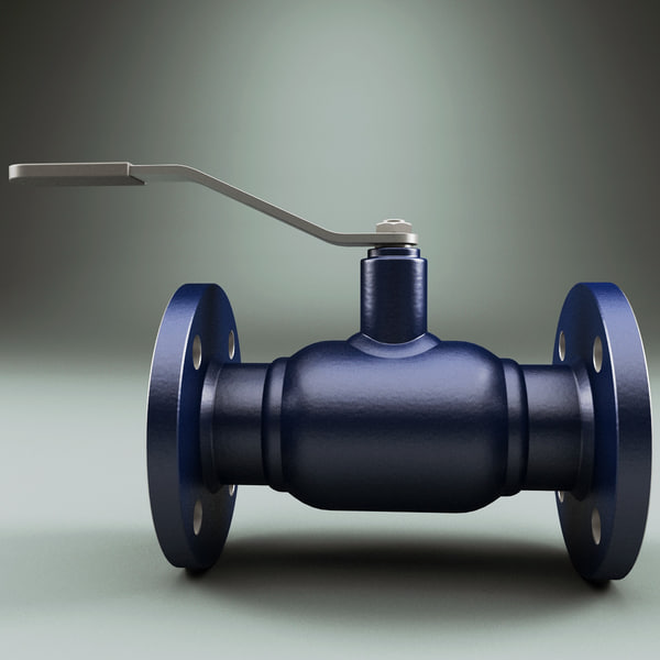 flanged ball valve v2 max - Flanged Ball Valve V2... by 3d_molier