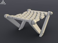 Indian wooden folding chair