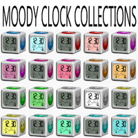 3d moody clock smile collections