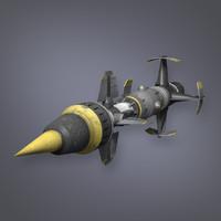 missile sci fi 3d model