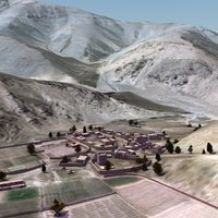 terrain arab village 3d 3ds