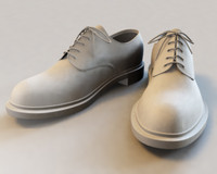 men dress shoes 3d model
