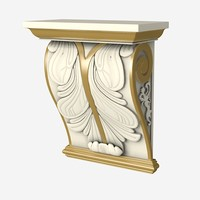 classic corbel traditional 3d model