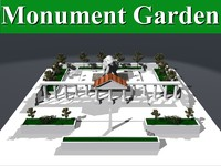 roman monument garden 3d lwo