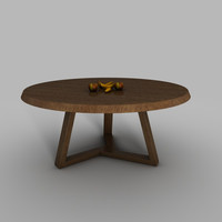 free kmp dining table 3d model