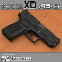 springfield xd 45 acp 3d max