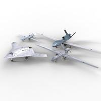 4 UAVs Aircrafts