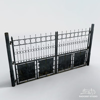 3d model old metal gate