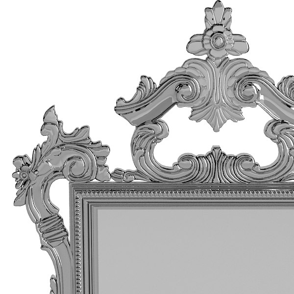 interni l 2573 3d model - of interni ?L 2573 classic mirror baroque carved silver wo... by shop3ds