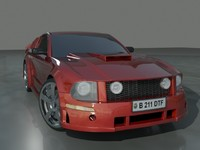 muscle car 3d max