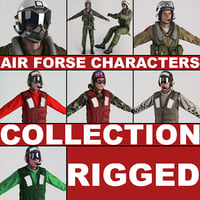 max air force characters rigged