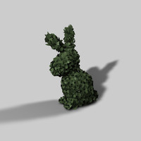 topiary rabbit 3d model