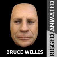 3d face bruce willis model